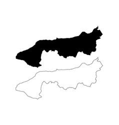 Yalova map vector