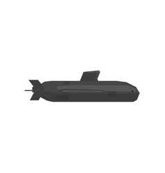 big military submarine icon underwater transport vector image