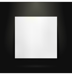 Blank presentation board in showroom vector image vector image