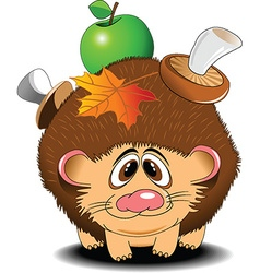 Hedgehog cartoon vector image vector image