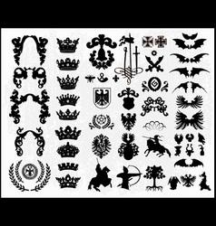heraldic silhouettes vector image vector image