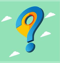 navigator checkin question symbol sky vector image vector image