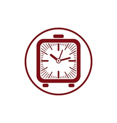 Time conceptual stylish icon simple desk clock vector image vector image