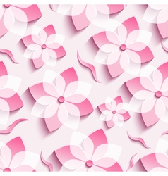 Abstract background seamless pattern pink sakura vector image