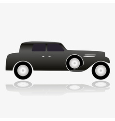 one isolated black simple old car eps10 vector image vector image