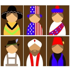 People in national dress vector image vector image