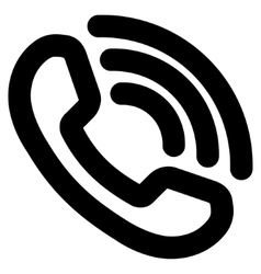 Phone ring stroke icon vector