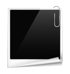 Photo frame with curl vector image