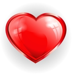 Red heart with reflection vector