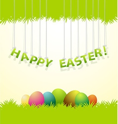 Easter colored eggs greeting card vector image vector image