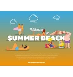 Holidays on summer beach banner vector