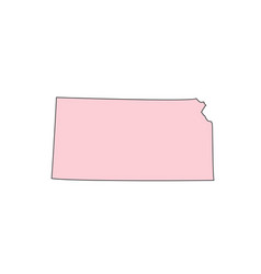 Kansas map isolated on white background silhouette vector