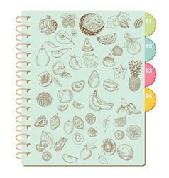 Scrapbook Design Elements -Set of Various Fruits vector image vector image