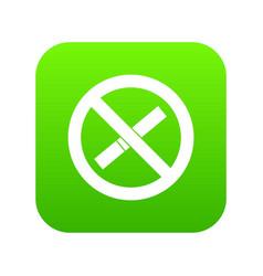 sign prohibiting smoking icon digital green vector image