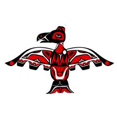 totem bird indigenous art stylization vector image vector image