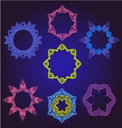 Floral Frames pattern round ornamental vector image vector image