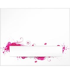 grunge white pink vector image