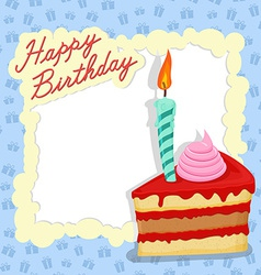Happy birthday card Place for text vector image vector image