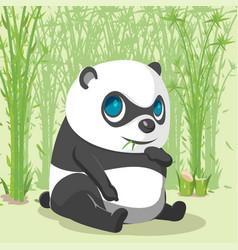 panda baby cute cartoon character vector image