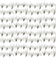 Seamless texture of fur Ermine Black and white vector image