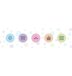 5 store icons vector