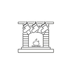 a fireplace a hearth a chimney a mantelpiece icons vector image