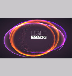 abstract ring background with luminous swirling vector image