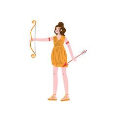 Artemis olympian greek goddess ancient greece vector