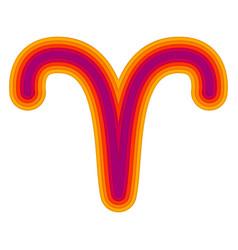 Astrological symbol aries paper cut vector