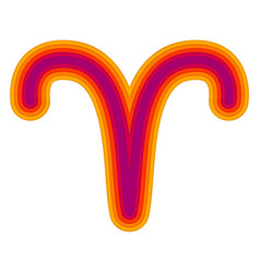 Astrological symbol of aries paper cut vector