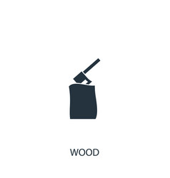 Ax in wood icon simple gardening element symbol vector