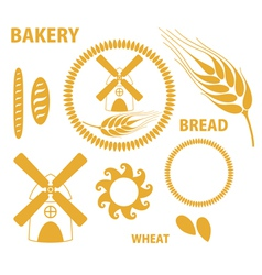Bakery Bread Wheat vector
