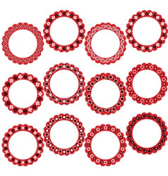 Bandana circle frames vector