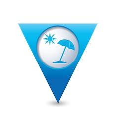 beach icon map pointer blue vector image vector image
