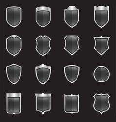 Blank Shields vector