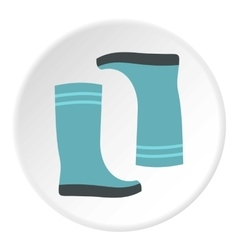 Boots icon flat style vector