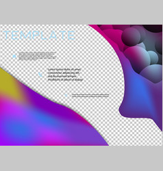 brochure cover brochure with color combination vector image