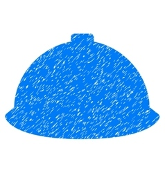 Builder Helmet Grainy Texture Icon vector image