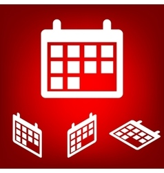 Calendar Icon set Isometric effect vector image vector image