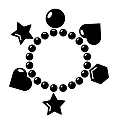 Charm bracelet icon simple style vector