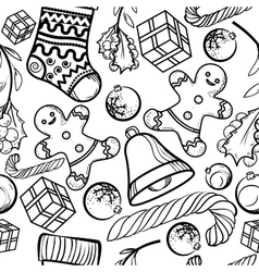 Christmas toy pattern vector image