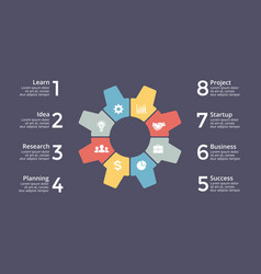 Circle gear infographic cycle diagram vector