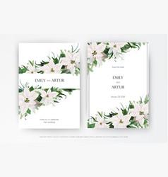 classy winter season wedding floral invite banner vector image