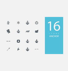 Collection icons in style flat gray color vector