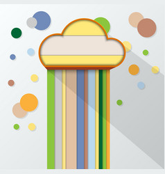 colorful and cloud symbol flat design vector image