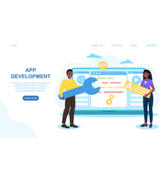 concept application development vector image