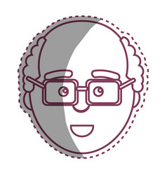 Contour man with facial expression using glasses vector