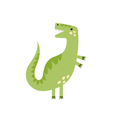 Cute tyrannosaurus rex in cartoon style isolated vector