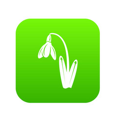 dead flower icon green vector image