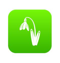 Dead flower icon green vector